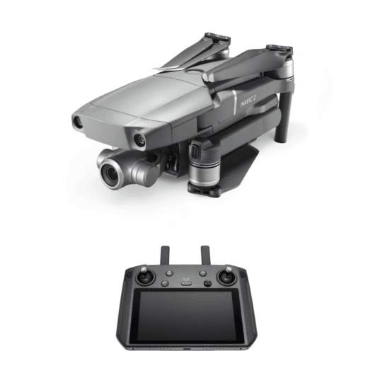 Mavic 2 zoom grey drone with smart controller