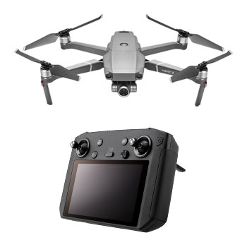 Mavic 2 zoom grey drone and black smart controller