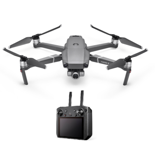 Mavic 2 zoom drone with black smart controller